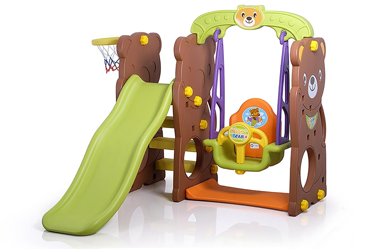 29070 3 In 1 Bear Slide With Swing Slide Swing Baby