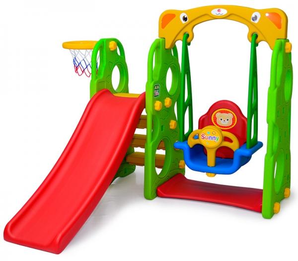 29010 Sunny Jumbo Slide With Swing Slide Swing Baby